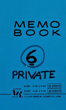 Lee Lozano: Private Book 6