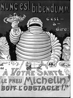"""Featured image, """"Bibendum Michelin,"""" is reproduced from the Introduction to <I>Liberty or Love! and Mourning for Mourning</I>."""