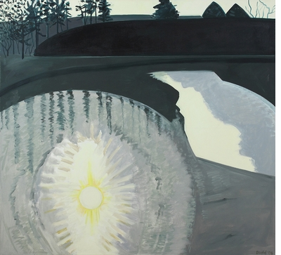 Lois Dodd, dimension, simultaneity and time in 'Landscape Painting Now'