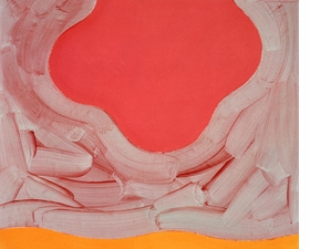 Mali Morris, <I>Around</I> (1994). Acrylic on canvas, 73 x 86 cm. Private collection