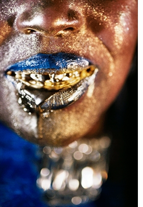"""""""Wangechi Gold 4"""" (2009) is reproduced from <I>Marilyn Minter: Pretty/Dirty</I>."""