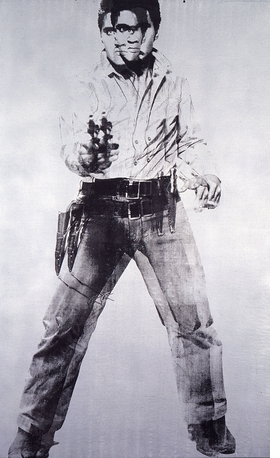 """Featured image is """"Double Elvis"""" Andy Warhol, 1963. Silkscreen ink on synthetic polymer paint on canvas, 6' 11"""" x 53"""" (210.8 x 134.6 cm)"""