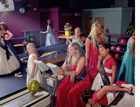 """""""Corby Carnival Queens Go Bowling, 1"""" (2010) is reproduced from <I>Mark Neville: Fancy Pictures</I>."""