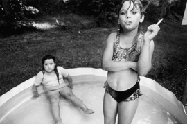 """""""Amanda and her cousin Amy, Valdese, North Carolina, USA"""" (1990) is reproduced from <I>Mary Ellen Mark on the Portrait and the Moment</I>."""