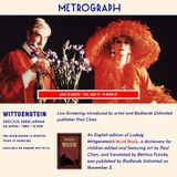 Metrograph presents a live screening of Derek Jarman's 'Wittgenstein,' introduced by artist and Badlands Unlimited 'Word Book' publisher Paul Chan