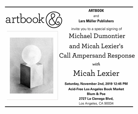 Micah Lexier signing 'Call Ampersand Response' at Acid Free Los Angeles Book Market