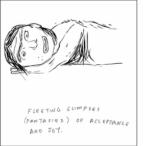 """Featured image, from the <I>History of Love</I> series, is reproduced from <I>Mike Mills: Drawings from the Film Beginners</I>. (A second caption reads: """"His only solace: The occasional moments where he has either forgotten his desire or can live in the dream that it will be fulfilled in the future."""")"""