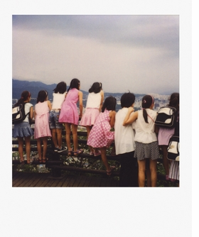 """Featured Polaroid, """"Untitled (Seoul),"""" (2008) is reproduced from <a href="""" 9780982365311.html"""">Mike Slack: Pyramids</a>."""