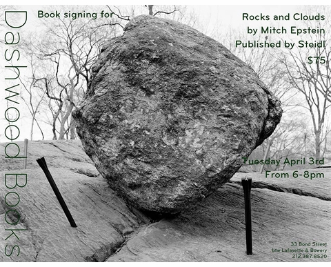 Mitch Epstein signing 'Rocks and Clouds' at Dashwood