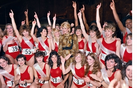 """""""Ivana Trump and New Jersey Generals Cheerleaders, Trump Tower, New York City (1984) is reproduced from 'Mitch Epstein: Sunshine Hotel.'"""