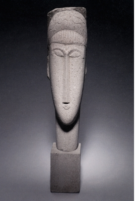 """Featured image, Amedeo Modigliani's <i>Head of a Woman</i>, 1911, from the Minneapolis Institute of Arts, donated by Mr. and Mrs. John Cowles is reproduced from <a href=""""9788836618873.html"""">Modigliani Sculptor</a>."""