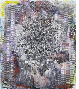 """""""Willie Meets the Keeper"""" (1987) is reproduced from 'More Dimensions Than You Know: Jack Whitten, 1979–1989.'"""