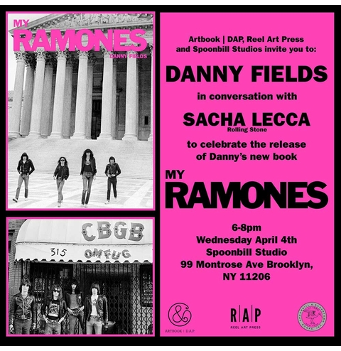 'My Ramones' author Danny Fields with Sacha Lecca at Spoonbill Studio