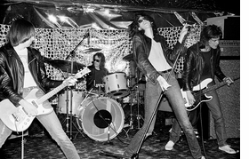 Featured image, of The Ramones live at Phase V, is reproduced from 'My Ramones: Photographs by Danny Fields.'