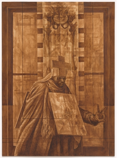 Mystery is the point in Charles White's 'Black Pope'