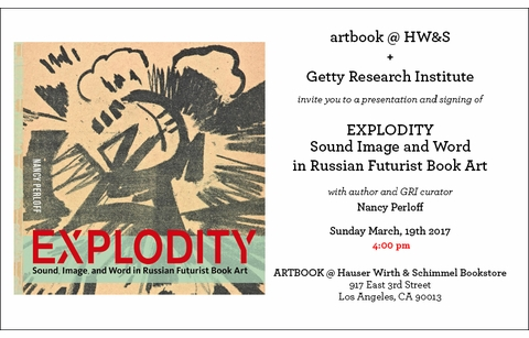 Nancy Perloff launches EXPLODITY at ARTBOOK @ Hauser & Wirth, Los Angeles