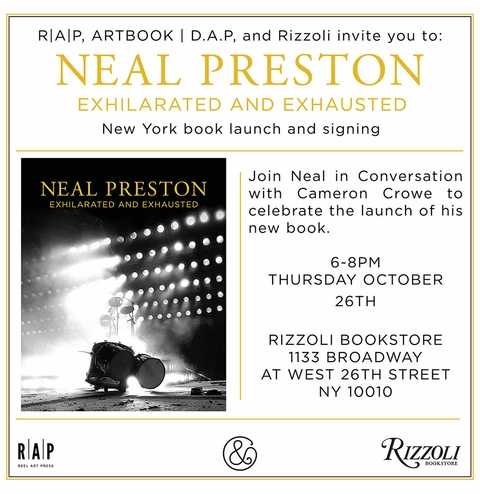 Neal Preston launches Exhilarated and Exhausted at Rizzoli