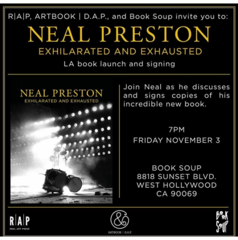 Neal Preston to launch 'Exhilarated and Exhausted' at Book Soup