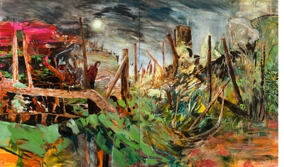 New Romantic Hernan Bas featured in 'Landscape Painting Now'