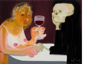 """Death and the Maiden"" (2009) is reproduced from 'Nicole Eisenman: Al-ugh-ories.'"