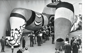 Featured image, of the public entering <I>Hon</I> (1965), is reproduced from <I>Niki de Saint Phalle</I>.