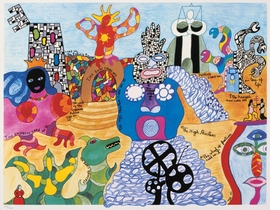 Featured image is reproduced from 'Niki de Saint Phalle: Structures for Life'.