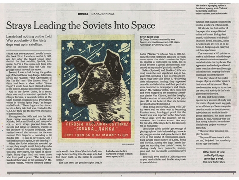 NY Times: 'Soviet Space Dogs' Tells the Story of Canine Cosmonauts