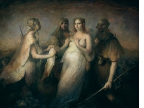 """Featured image, Odd Nerdrum's <i>Messenger</i> is reproduced from <a href=""""9788251636384.html"""">Kitsch, More than Art</a>."""