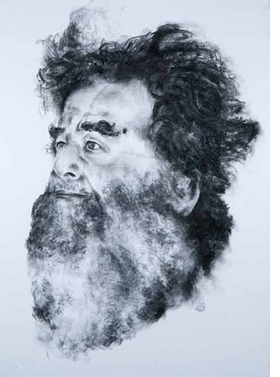 Featured image, a 2006 charcoal drawing by Paul Chan, is reproduced from <I>On Democracy by Saddam Hussein</I>.