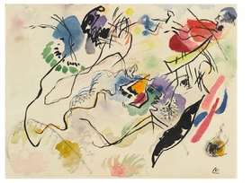 """Artist Atusko Tanake utilized crayon, permanent marker and ink to make his <i>Drawing after """"Electric Dress""""</i> from 1956. It is one of many drawings collected in <a href=""""9780870707827.html"""">On Line: Drawing Through the Twentieth Century</a>."""