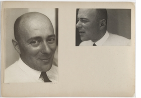 """""""El Lissitzky, Dessau, June 1930"""" is reproduced from <I>One and One Is Four: The Bauhaus Photocollages of Josef Albers</I>."""
