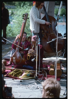 Featured image: Moki Cherry, Don Cherry, unknown bass player, ca. 1974. From 'Organic Music Societies.'