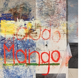 """""""Untitled (mango)"""" (2012) is reproduced from <I>Oscar Murillo: Work</I>."""