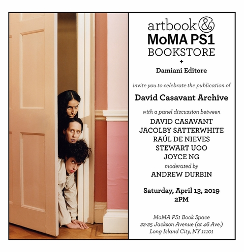 Panel Discussion and Book Signing for 'David Casavant Archive' at MoMA PS1 Book Space