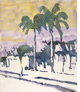 """Sigmar Polke's """"Palmen (Palm Trees)"""" (1968) is reproduced from 'Paradise Is Now.'"""