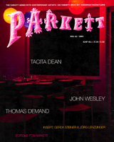 Parkett No. 62 Tacita Dean, Thomas Demand, John Wesley