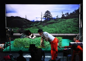 """Featured image, a performance view of Yeondoo Jung's 2009 <i>Cinemagician</i>, is reproduced from <a href="""" http://www.artbook.com/9780615450667.html""""> Performa 09: Back to Futurism</a>."""