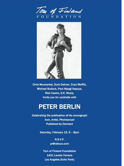 Peter Berlin cocktails and signing at Tom of Finland, Los Angeles