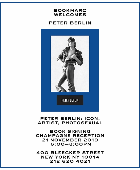 Peter Berlin to launch 'Icon, Artist, Photosexual' at Bookmarc NYC