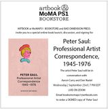 Peter Saul, Dan Nadel and Aaron Curry to launch 'Peter Saul: Professional Artist Correspondence' with a virtual conversation and signing at Artbook @ MoMA PS1