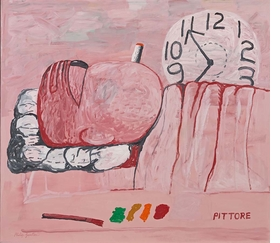 """""""Pittore"""" (1973) is reproduced from 'Philip Guston & the Poets.'"""