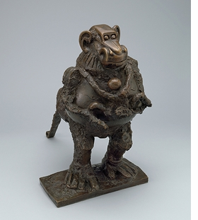 """Pablo Picasso, """"Baboon and Young Vallauris"""" (1950-1), is reproduced from <i>Picasso Sculpture</i>."""