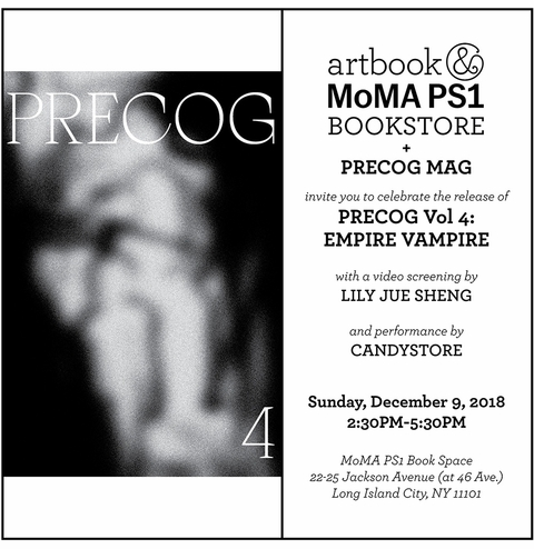 Precog Mag launch, screening and performance at MoMA PS1 Book Space