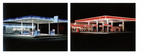 """Featured images are <i>Blue</i> and <i>Red</i> in the Petrol Stations series, reproduced from <a href=""""9783775726085.html"""">Ralf Peters: Until Today</a>."""