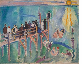 """Raoul Dufy, """"Sun Reflections on the Sea at Sainte-Adresse"""", 1906, is reproduced from <i>Raoul Dufy</i>."""