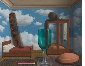 """""""Personal Values"""" (1952) is reproduced from 'René Magritte The Fifth Season.'"""