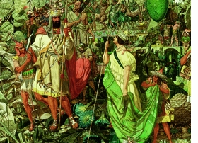 """Featured image, reproduced from <a href=""""http://www.artbook.com/9781935202684.html"""">Richard Dadd: The Artist and the Asylum</a>, is a detail from Dadd's painting <i>Contradiction: Oberon and Titania</i>, Oil on canvas, 1854–8."""