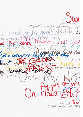 Featured image is Roni Horn Wits' End Mash (swimming with the fishes) (Detail), Silkscreen on paper, 49 × 62 in. / 124.5 × 157.5 cm, © Roni Horn. Courtesy the artist and Hauser & Wirth Publishers.