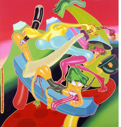 See Peter Saul at the New Museum, read 'Pop, Funk, Bad Painting and More'