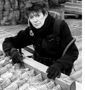 """Featured image, """"Portrait of Ursula von Rydingsvard with Conjugation"""" (2012), is reproduced from <I>She's Got What It Takes</I>. Photo: Andria Morales © Ursula von Rydingsvard, Courtesy Galerie Lelong, New York."""